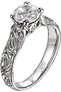 scott kay engagement ring with caesar engraving - Scott Kay Wedding Rings