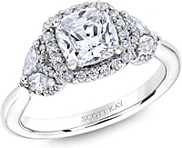 Scott Kay Floral Diamond Engagement Ring