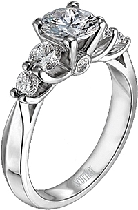 Scott Kay Four Stone Diamond Engagement Ring .68ct tw