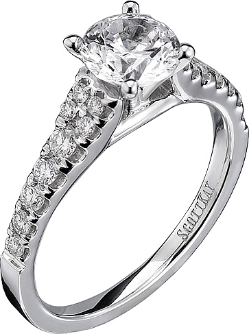 scott kay graduated diamond engagement ring 0 reviews write a review this image shows the setting with a 100ct round brilliant cut center diamond the - Scott Kay Wedding Rings