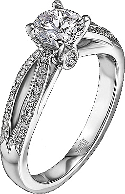 scott kay pave bow diamond engagement ring 18ct tw m1172r310 - Scott Kay Wedding Rings