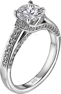 Scott Kay Pave Diamond Engagement Ring .38ct tw