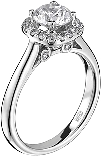 Scott Kay Pave Halo Diamond Engagement Ring