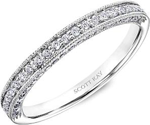 Scott Kay Pave Milgrain Diamond Wedding Band B1608R310