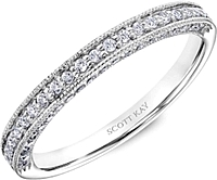 Scott Kay Pave Milgrain Diamond Wedding Band
