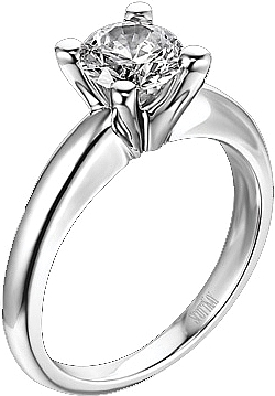 Scott kay solitaire engagement ring m0812 for Sample of wedding rings