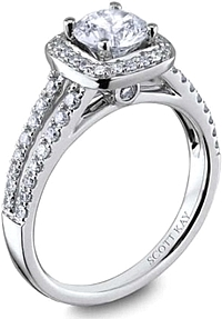 Scott Kay Split Shank Diamond Engagement Ring