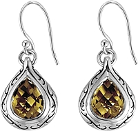 Scott Kay Sterling Silver Citrine Drop Earring