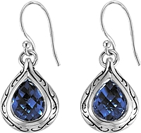 Scott Kay Sterling Silver London Blue Topaz Drop Earring