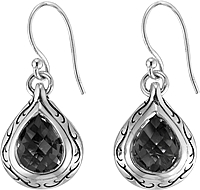 Scott Kay Sterling Silver Onyx Drop Earring