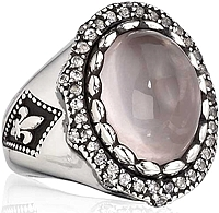 Scott Kay Sterling Silver Rose Quartz Ring