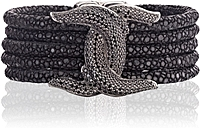Scott Kay Stingray & Black Spinel Gaurdian Bracelet