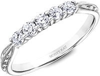 Scott Kay Vintage 5 Stone Prong-Set Diamond Wedding Band