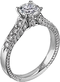Scott Kay Vintage Collection Diamond Engagement Ring