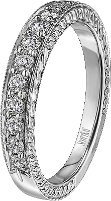 Scott Kay Vintage Pave Set Diamond Wedding Band B1127RD10