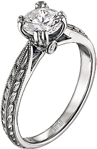 Scott Kay Vintage Solitaire Engagement Ring