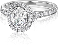 Signature Pave Halo Diamond Engagement Ring