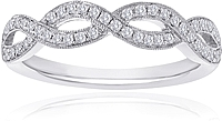 Signature Pave Twist Diamond Wedding Band