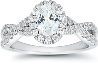 Signature Twist Shank Diamond Engagement Ring