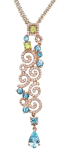 Simon G 18k Rose Gold Diamond Pendant