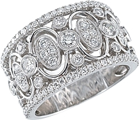Simon G 18k White Gold Diamond Band- 1.02ct TW