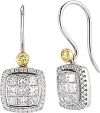 Simon G 18k White Gold Diamond Earrings- 1.25ct TW