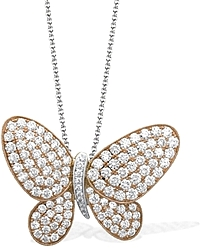 Simon G Butterfly Pendant with Diamonds