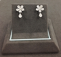 Simon G Diamond Flower Earrings