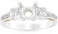 Simon G Diamond Setting in Platinum & 18k Gold .55ct tw