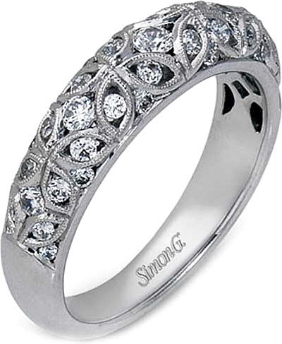 Simon G Filigree Diamond Wedding Band Mr1523