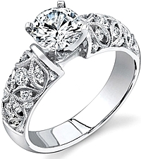 Simon G Filigree Engagement Ring