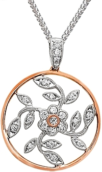 Simon G Floral Pendant with Diamonds