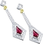 Simon G Kite Shape Earring with Pave Diamonds