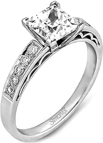 Simon G Pave Diamond Engagement Ring LP1208
