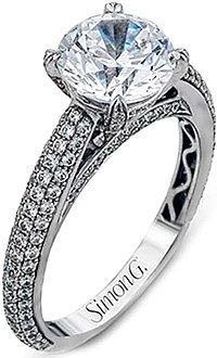 Simon G Pave Diamond Engagement Ring