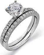 This image shows the matching wedding band; Sold separately.