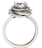 This image shows the setting with a 1.25ct round brilliant cut diamond. The setting can be ordered to accommodate any shape/size diamond listed in the setting details section below.