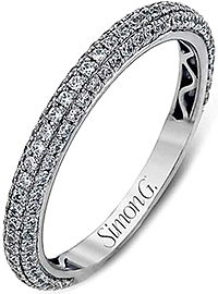 Simon G Triple Row Diamond Wedding Band