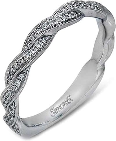 Simon G Twist Diamond Wedding Band MR1498B