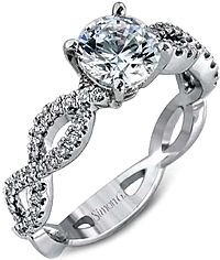 Simon G Twist Shank Diamond Engagement Ring Setting