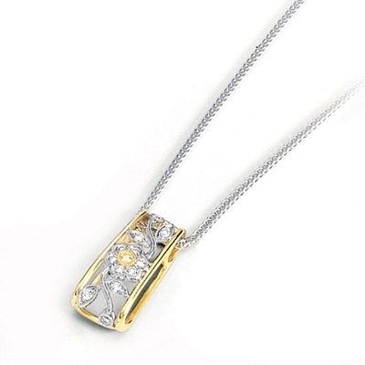Simon g white and yellow gold pendant with floral design sg mp1272 view photos audiocablefo