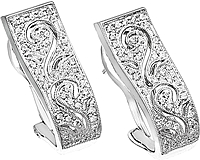 Simon G White Gold Fashion Earrings with Pave Diamonds