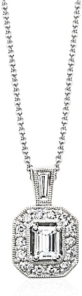 Simon G White Gold Pendant with Diamonds