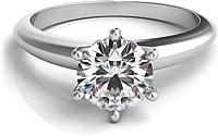 Six Prong Diamond Solitaire Engagement Ring