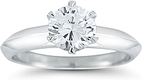 Six Prong Solitaire Diamond Engagement Ring