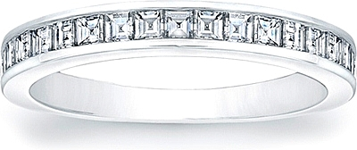 Square Emerald Cut ChannelSet Diamond Band SCS1259BW