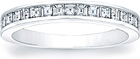 Square Emerald Cut Channel-Set Diamond Band