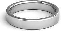 Squared Flat Wedding Band - 4mm