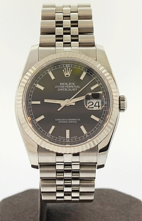 Stainless Steel 36mm Rolex Datejust - 116234