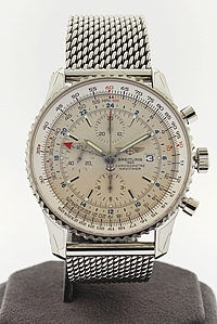 Stainless Steel Breitling Navitimer World